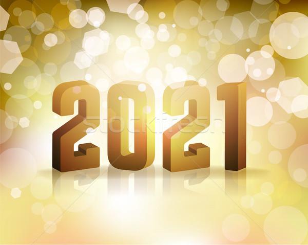 новых лет иллюстрация год вектора прибыль на акцию Сток-фото © enterlinedesign
