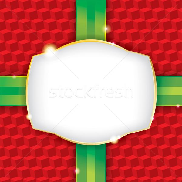 クリスマス 現在 包装紙 ラベル ベクトル eps ストックフォト © enterlinedesign
