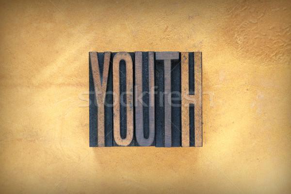 Juventude palavra escrito vintage tipo Foto stock © enterlinedesign