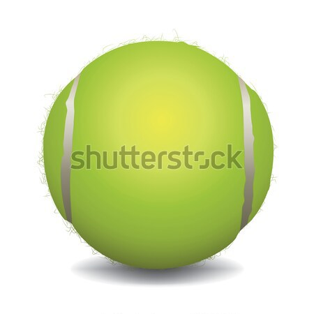 Tennisbal illustratie geïsoleerd witte vector eps Stockfoto © enterlinedesign