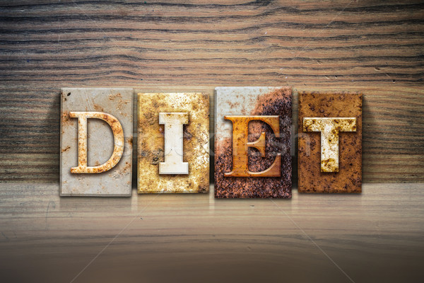 Diet Concept Letterpress Theme Stock photo © enterlinedesign