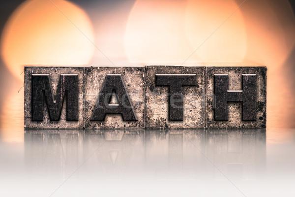 Matematik bağbozumu tip kelime yazılı Stok fotoğraf © enterlinedesign