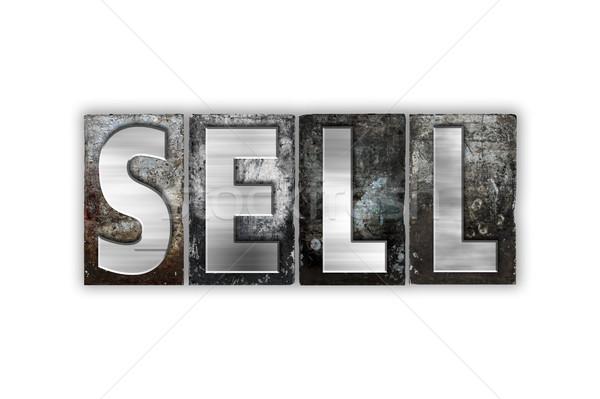 Elad izolált fém magasnyomás szó Stock fotó © enterlinedesign