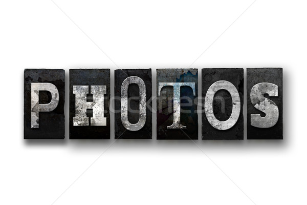 Photos Concept Isolated Letterpress Type Stock photo © enterlinedesign