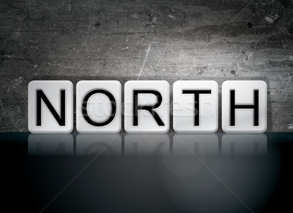 North Tiled Letters Concept and Theme Stock photo © enterlinedesign