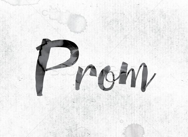 Prom Concept Painted in Ink Stock photo © enterlinedesign