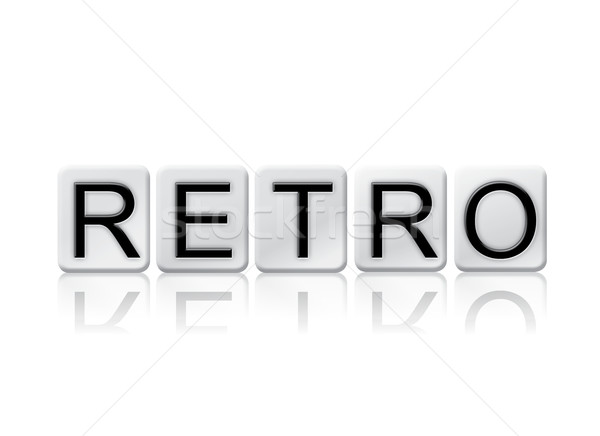 Retro Isolated Tiled Letters Concept and Theme Stock photo © enterlinedesign