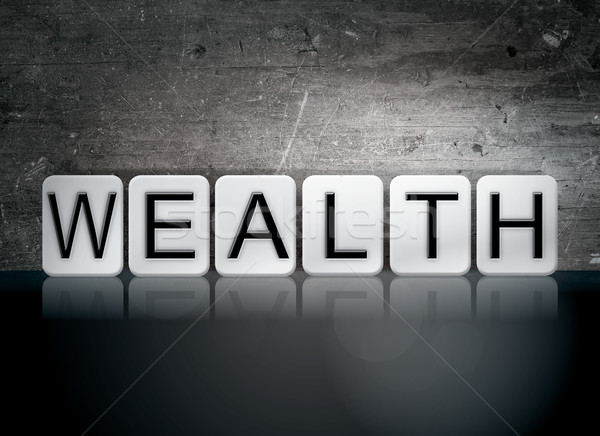 Wealth Tiled Letters Concept and Theme Stock photo © enterlinedesign