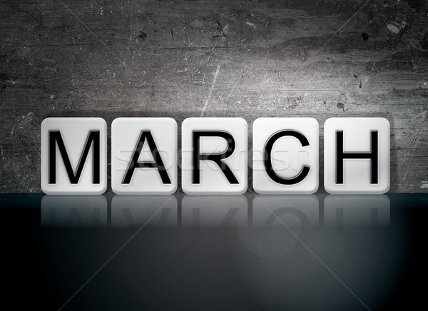 March Concept Tiled Word Stock photo © enterlinedesign