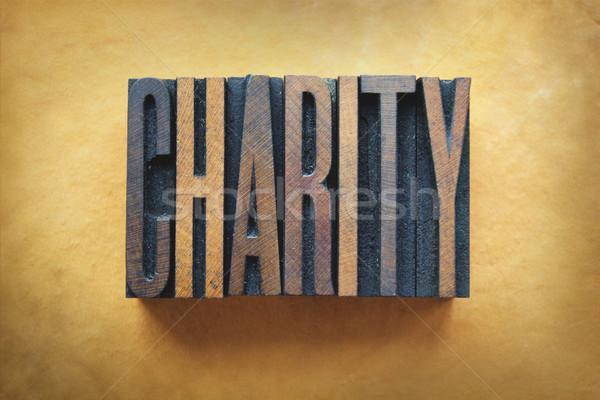 благотворительность слово написанный Vintage тип Сток-фото © enterlinedesign