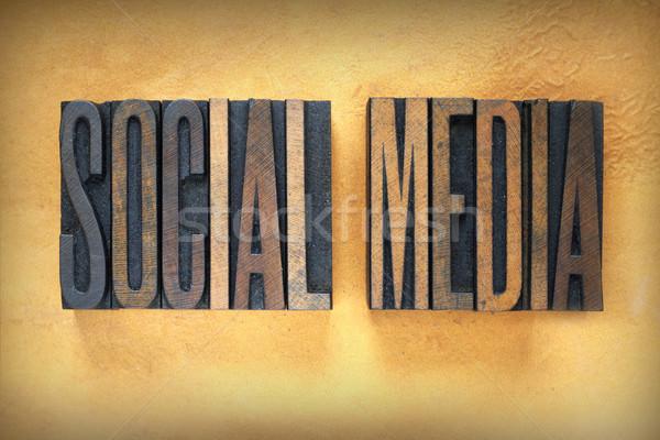 Social Media Letterpress Stock photo © enterlinedesign