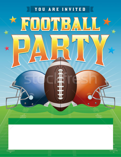 Football Party Illustration Stock photo © enterlinedesign