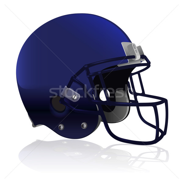 American Football Helmet Isolated on White Stock photo © enterlinedesign