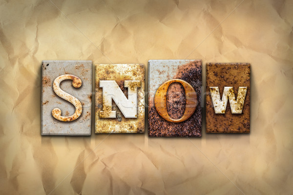 Snow Concept Rusted Metal Type Stock photo © enterlinedesign