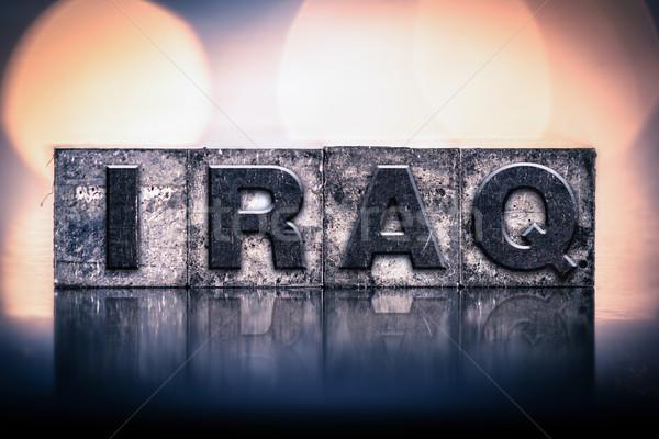 Iraque vintage tipo palavra escrito Foto stock © enterlinedesign