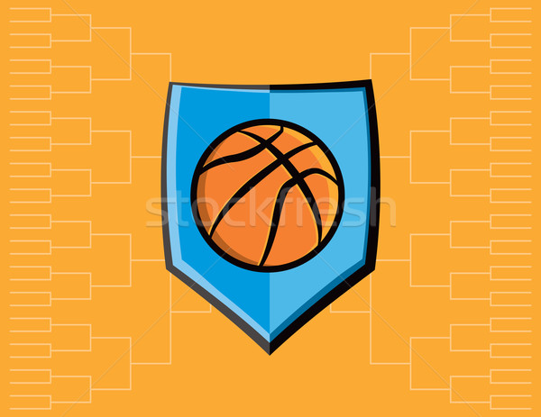 Basketball Emblem and Tournament Background Stock photo © enterlinedesign