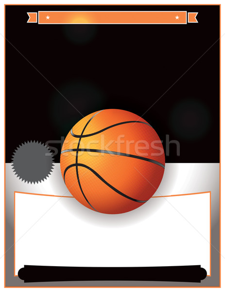 Vector Basketball Tournament Illustration Stock photo © enterlinedesign