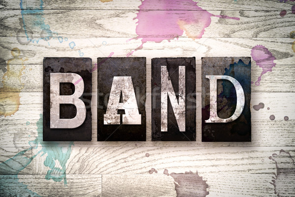 Band Concept Metal Letterpress Type Stock photo © enterlinedesign