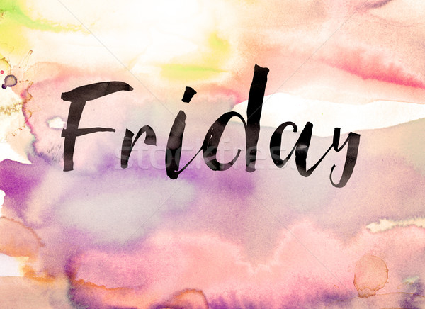Friday Concept Watercolor Theme Stock photo © enterlinedesign
