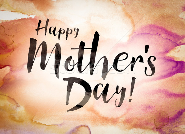 Happy Mother's Day Concept Watercolor Theme Stock photo © enterlinedesign