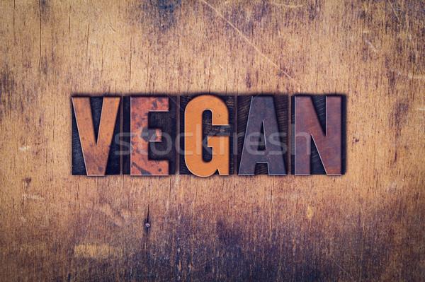 Vegan tipo palavra escrito Foto stock © enterlinedesign