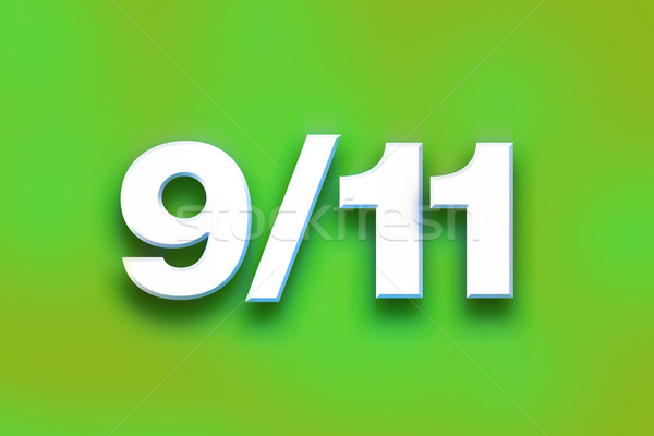9-11 Concept Colorful Word Art Stock photo © enterlinedesign