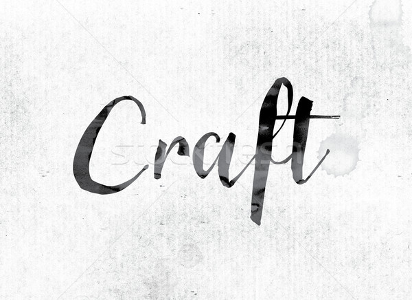Craft Concept Painted in Ink Stock photo © enterlinedesign