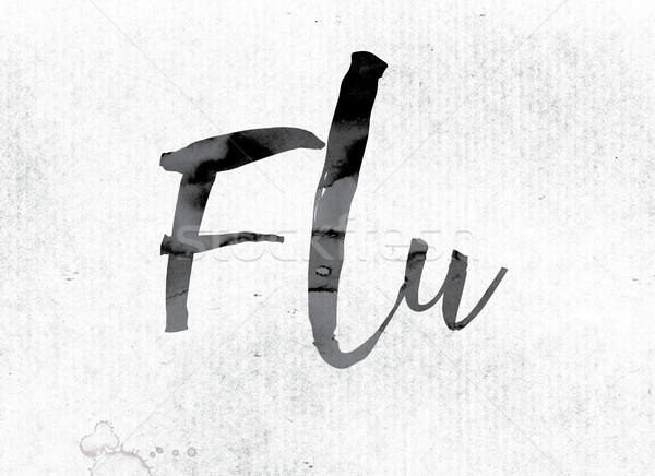 Flu Concept Painted in Ink Stock photo © enterlinedesign