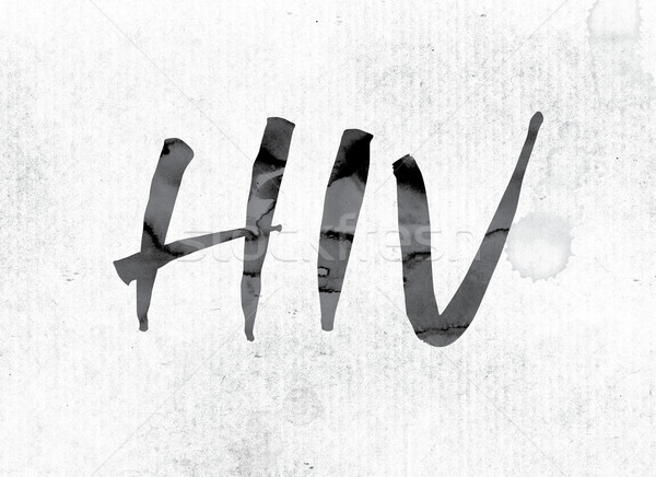 HIV Concept Painted in Ink Stock photo © enterlinedesign