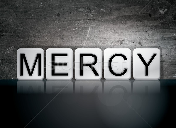 Mercy Tiled Letters Concept and Theme Stock photo © enterlinedesign