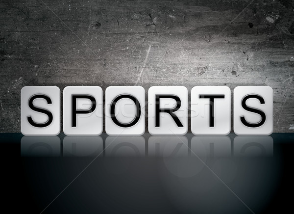 Stock photo: Sports Tiled Letters Concept and Theme