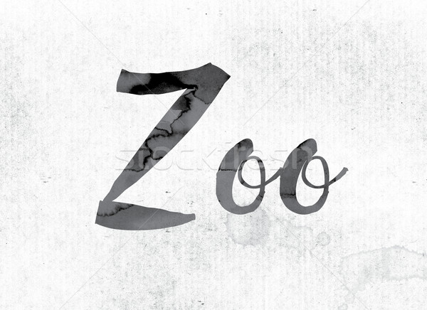 Zoo Concept Painted in Ink Stock photo © enterlinedesign