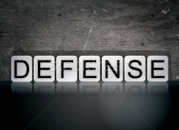 Defense Concept Tiled Word Stock photo © enterlinedesign