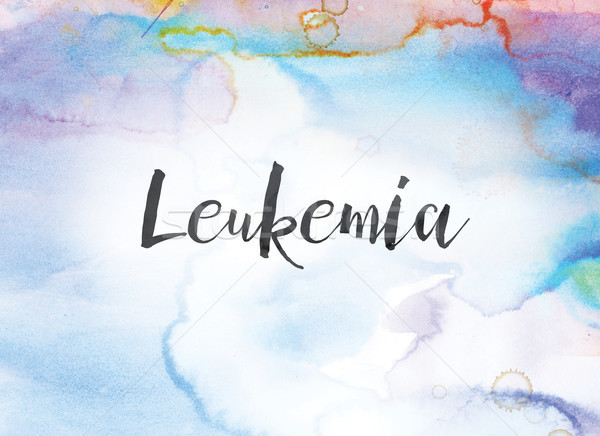 Leukemia Concept Watercolor and Ink Painting Stock photo © enterlinedesign