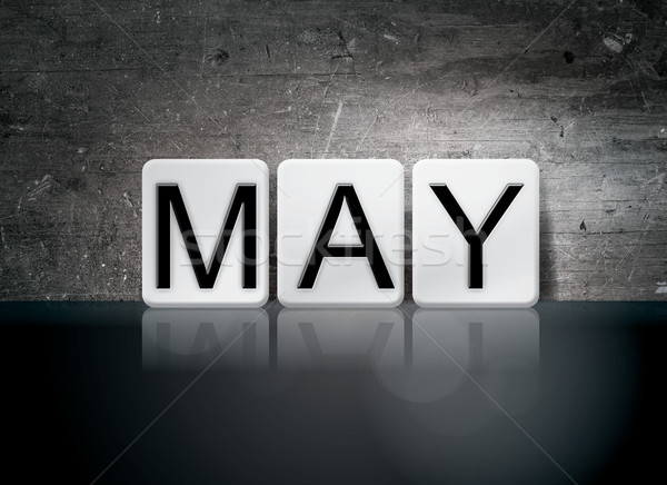 May Concept Tiled Word Stock photo © enterlinedesign