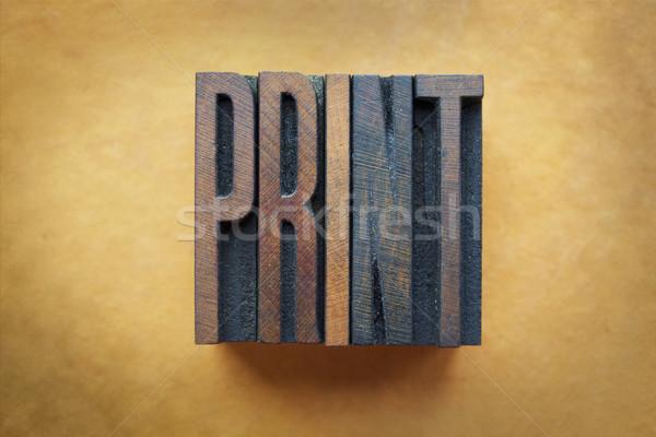 印刷 言葉 書かれた ヴィンテージ タイプ ストックフォト © enterlinedesign