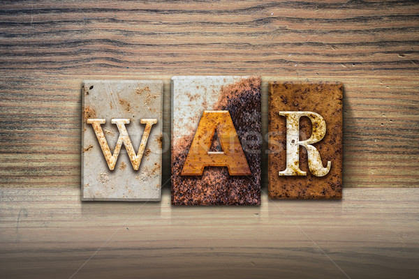 War Concept Letterpress Theme Stock photo © enterlinedesign