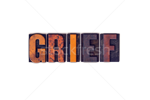 Grief Concept Isolated Letterpress Type Stock photo © enterlinedesign
