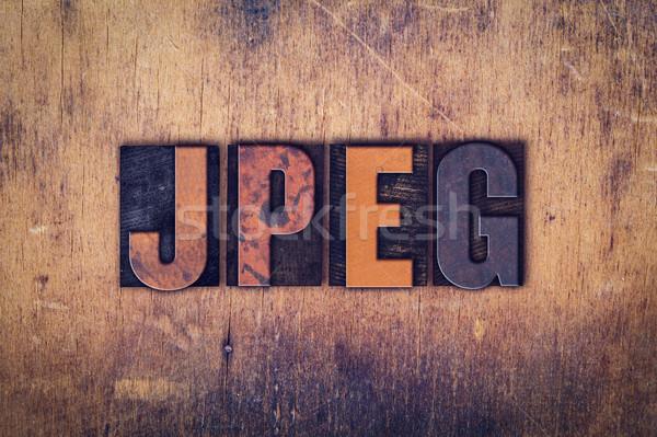 Houten type woord geschreven vuile Stockfoto © enterlinedesign