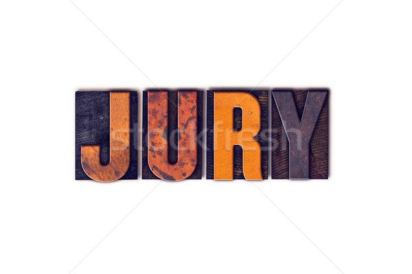 Jury Concept Isolated Letterpress Type Stock photo © enterlinedesign