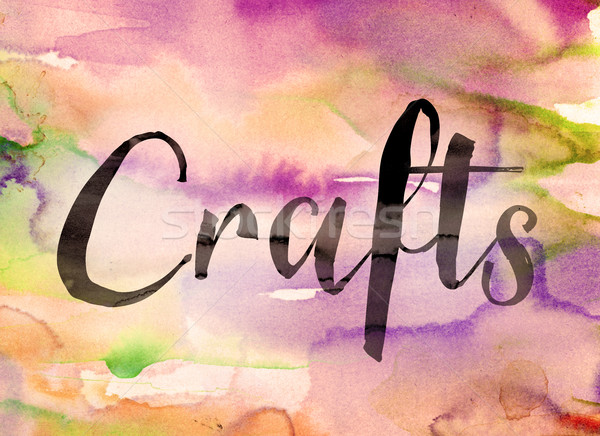 Crafts Concept Watercolor Theme Stock photo © enterlinedesign