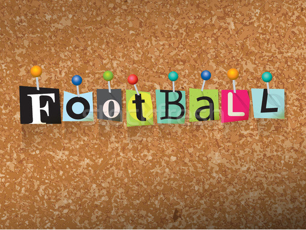 Football Concept Pinned Letters Illustration Stock photo © enterlinedesign