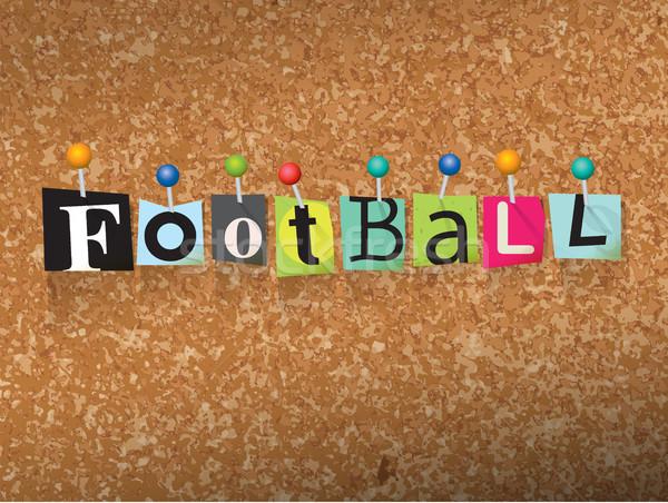 Football lettres illustration mot écrit coupé Photo stock © enterlinedesign