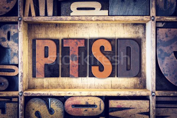 PTSD Concept Letterpress Type Stock photo © enterlinedesign