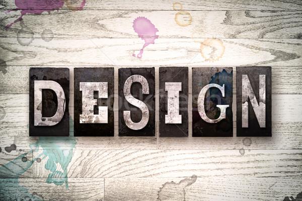 Design Concept Metal Letterpress Type Stock photo © enterlinedesign