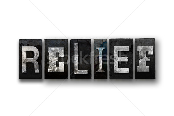 Relief Concept Isolated Letterpress Type Stock photo © enterlinedesign