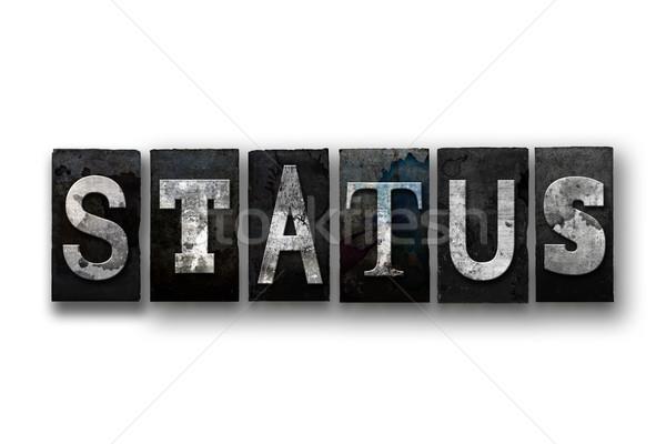 állapot izolált magasnyomás szó írott Stock fotó © enterlinedesign
