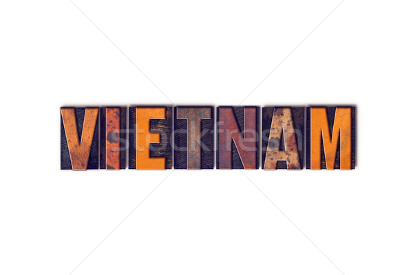 Vietnam Concept Isolated Letterpress Type Stock photo © enterlinedesign