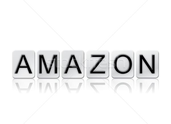 アマゾン 孤立した タイル張りの 文字 言葉 書かれた ストックフォト © enterlinedesign