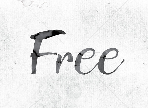 Free Concept Painted in Ink Stock photo © enterlinedesign